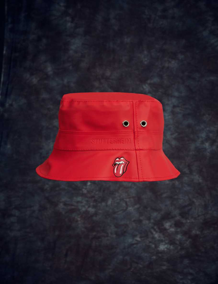 Stutterheim x Stones Red Bucket Hat