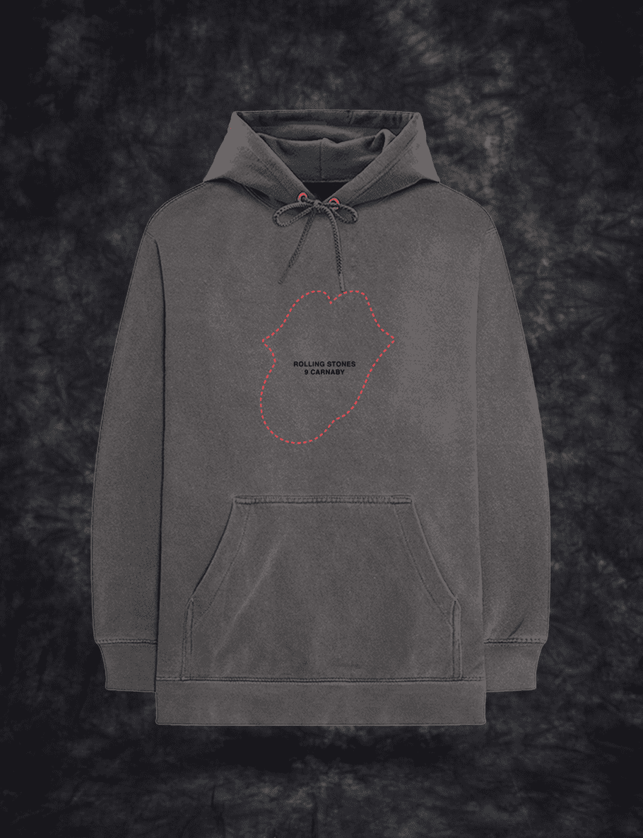 No9 Tongue Outline Embroidered Hoodie