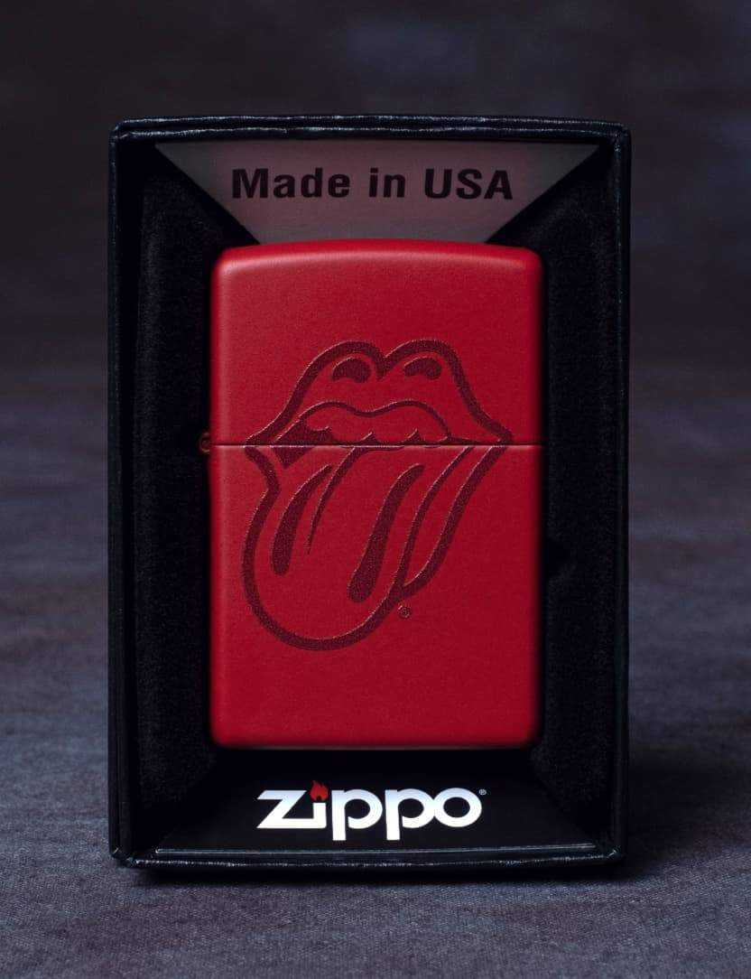 Stones Red Zippo Tongue Lighter